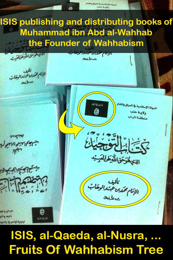 Photo of ISIS Publishing books of the founder of Wahabism – Salafis